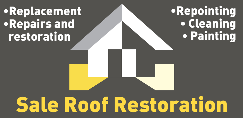 Roof Restoration Sale Logo